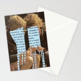 Does language flow through us or we through it? Stationery Cards