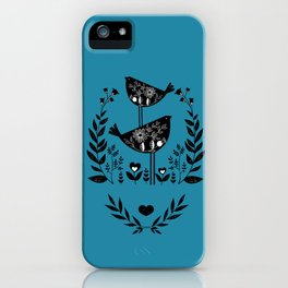 Danish Birds Bring Good Luck And A Good Life iPhone Case