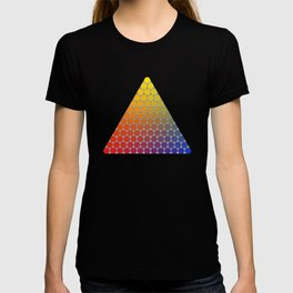 Lichtenberg-Mayer Colour Triangle recoloured remake, based on Mayer's original idea and illustration T-shirt