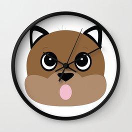 Bubblegum Puppy Dog Wall Clock