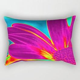 Flower | Flowers | Neon Daisy Rectangular Pillow