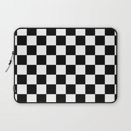 Checkered (Black & White Pattern) Laptop Sleeve