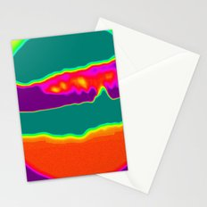 Psychedelic Hamburger Stationery Cards