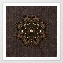Steampunk, beautiful mandala Art Print