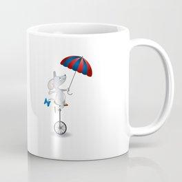 Mouse on unicycle Coffee Mug