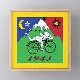 Bicycle Day 1943 Albert Hofmann LSD Framed Mini Art Print