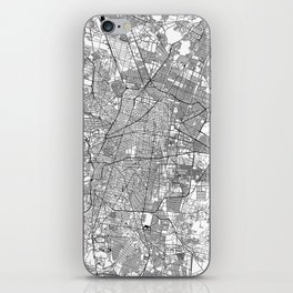 Mexico City White Map iPhone Skin