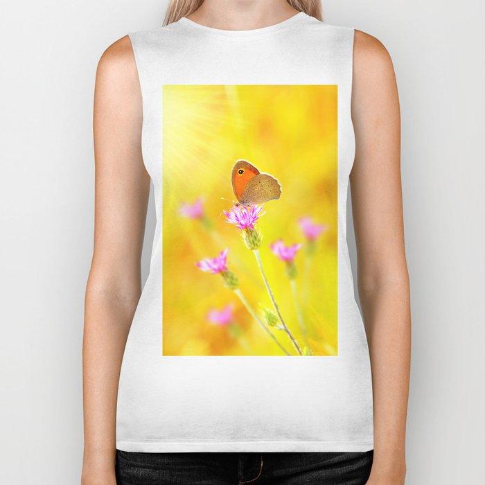 Beautiful Butterfly Biker Tank