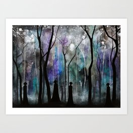 Haunted Forest Art Print