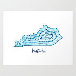 Kentucky Agate Art Print