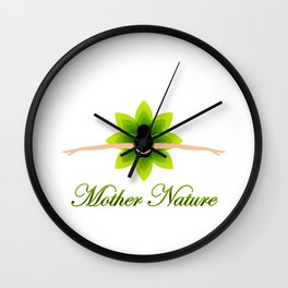 Mother nature dancing- World earth day- environment day Wall Clock