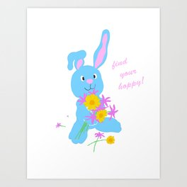 Scout with Flowers: Find Your Hoppy! Art Print