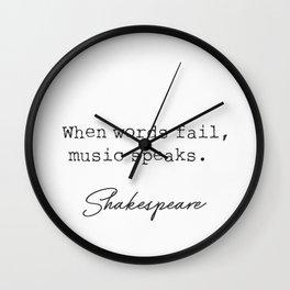 Shakespeare When words fail.. Wall Clock