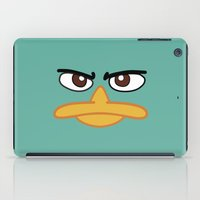 platypus iPad Cases featuring Perry the Platypus by Maggie Cellucci