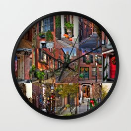 Beacon Hill Collage 2 Wall Clock