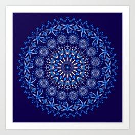Ancestors Dragonfly (Blue) Art Print