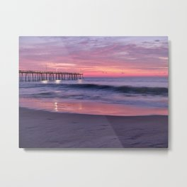 Nags Head NC Pink & Purple Sky Sunrise Metal Print