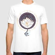 Lotus Mens Fitted Tee White LARGE