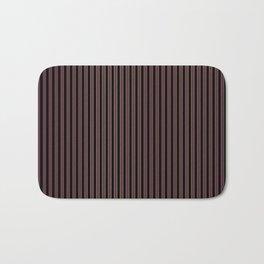 Thin Golden Pinstripe on Royal Purple and Black Bath Mat