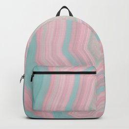 Pink and Teal Agate Backpack