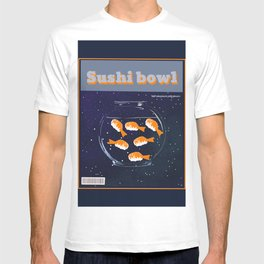 Sushi bowl in space T-shirt