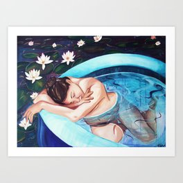 The Water Birth of Lily  Art Print