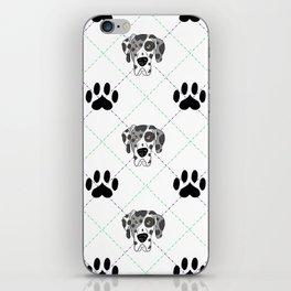 Merle Great Dane Paw Print Pattern iPhone Skin