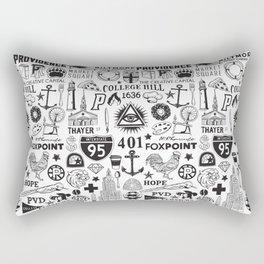 Providence Rhode Island Print Rectangular Pillow