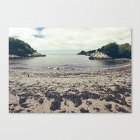 wes anderson Canvas Prints featuring Moonrise Kingdom Beach - Wes Anderson by Thais Marchese