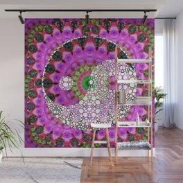 Hot Pink Art - Vitality Yin and Yang Symbol - Sharon Cummings Wall Mural