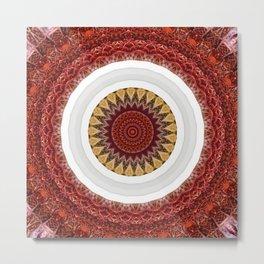New Color Pyramidal Mandala 65 Metal Print