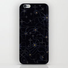 night sky with connected stars iPhone & iPod Skin