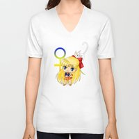 sailor venus V-neck T-shirts featuring Sailor Venus by artwaste