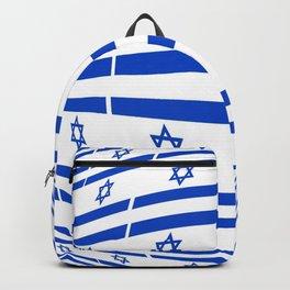 flag of israel 12-יִשְׂרָאֵל ,israeli,Herzl,Jerusalem,Hebrew,Judaism,jew,David,Salomon. Backpack