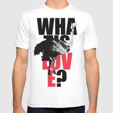 WIL? Ostrich MEDIUM White Mens Fitted Tee