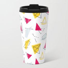 Red yellow geometric Travel Mug