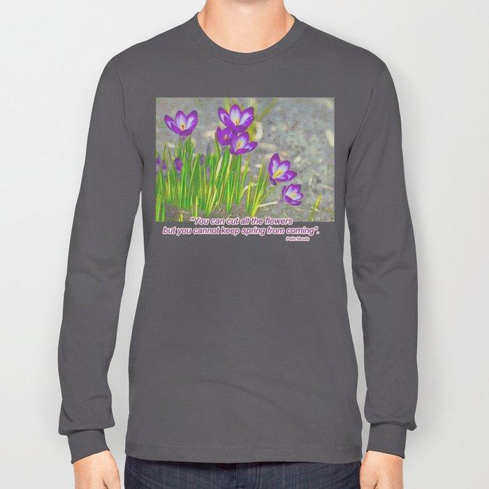 Spring Crocus Long Sleeve T-shirt