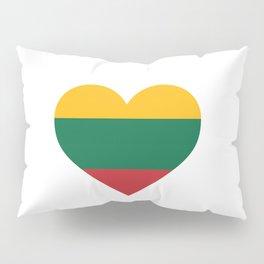 Lithuania  love flag heart designs  Pillow Sham