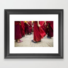 Young monks Framed Art Print