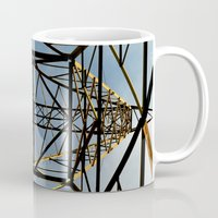 the wire Mugs featuring Metal Wire by Lia Bernini