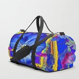 DECORATIVE BLUE PANSY & VINING  MORNING GLORIES Duffle Bag