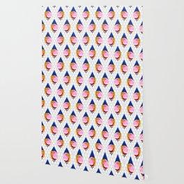 048 birdie kisses the sweet morning raindrop pattern Wallpaper
