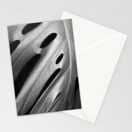 Monstera leaf tropical art Stationery Cards