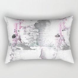 Gray Pink hand-drawn watercolor pattern Rectangular Pillow