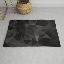 Abstract of triangles polygo in black colors Rug