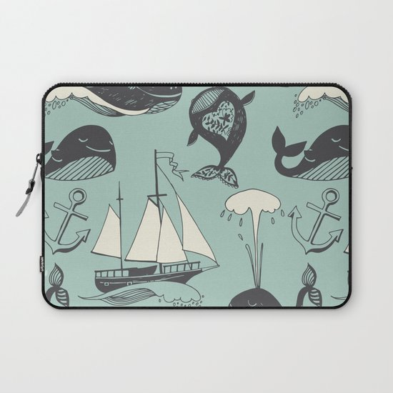 Whales 2 Laptop Sleeve