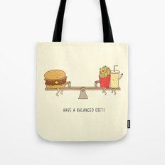 balanced diet Tote Bag