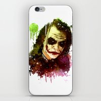the joker iPhone & iPod Skins featuring Joker by Sirenphotos