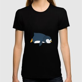 penguin lazy tired lazy funny woman children gift T-shirt