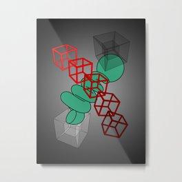 Cubiq Metal Print